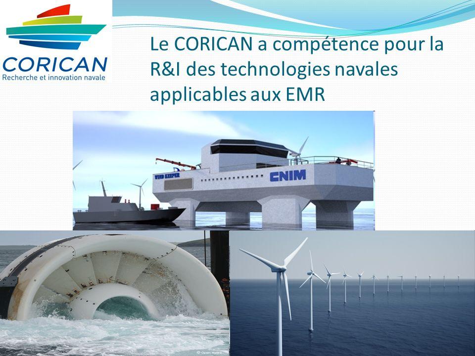Le CORICAN a compétence pour la R&I des technologies navales applicables aux EMR