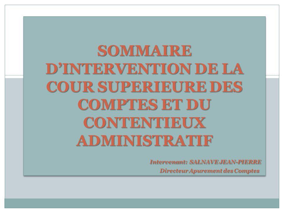 La problématique du Contrôle Financier La problématique du contrôle financier des Organismes Publics, par la CSC/CA.