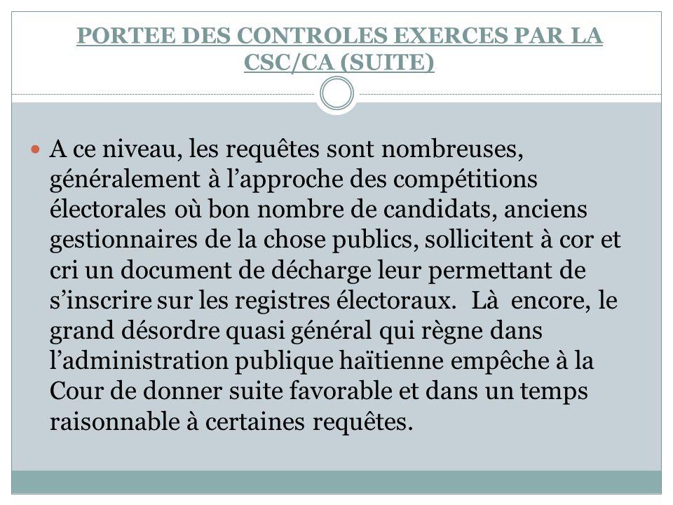A ce niveau, les requêtes sont nombreuses, généralement à lapproche des compétitions électorales où bon nombre de candidats, anciens gestionnaires de