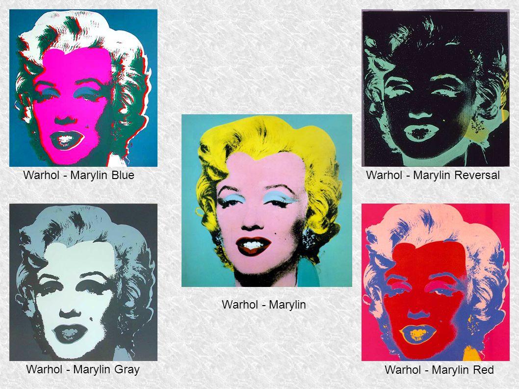 Warhol - Marylin Red Warhol - Marylin Warhol - Marylin BlueWarhol - Marylin Reversal Warhol - Marylin Gray