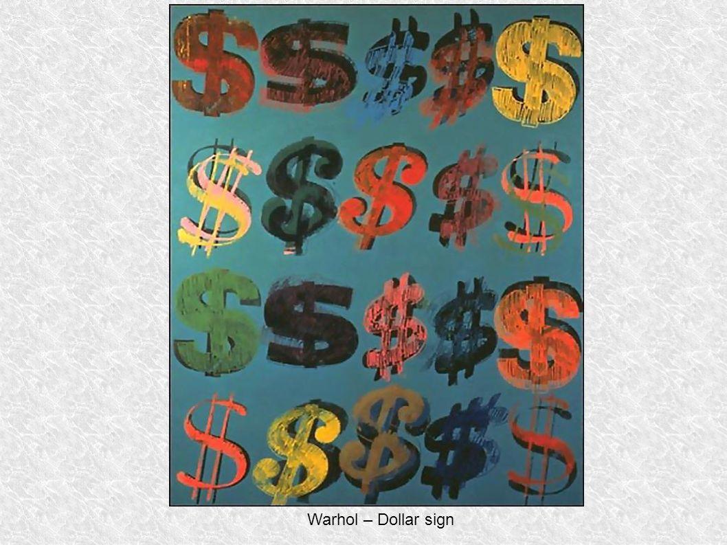 Warhol – Dollar sign