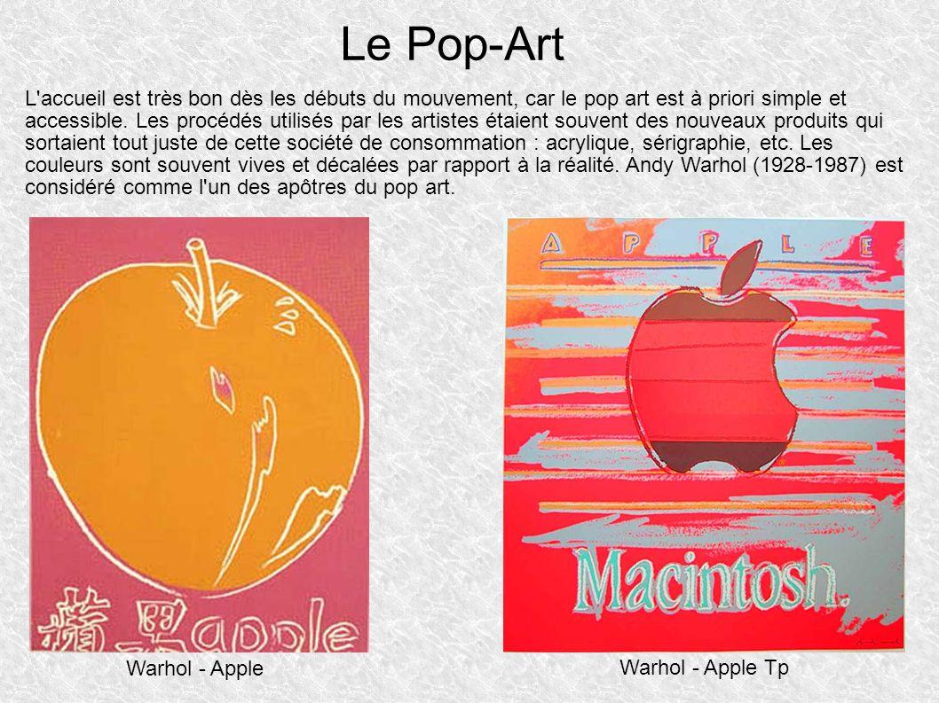 L accueil est très bon dès les débuts du mouvement, car le pop art est à priori simple et accessible.