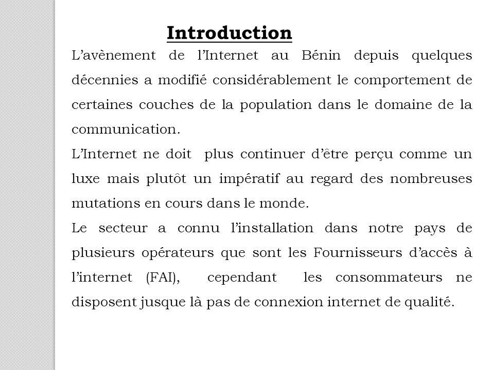 Lavènement de lInternet au Bénin depuis quelques décennies a modifié considérablement le comportement de certaines couches de la population dans le domaine de la communication.
