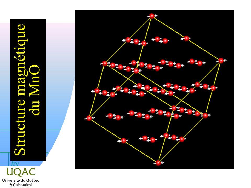 h Structure magnétique du MnO