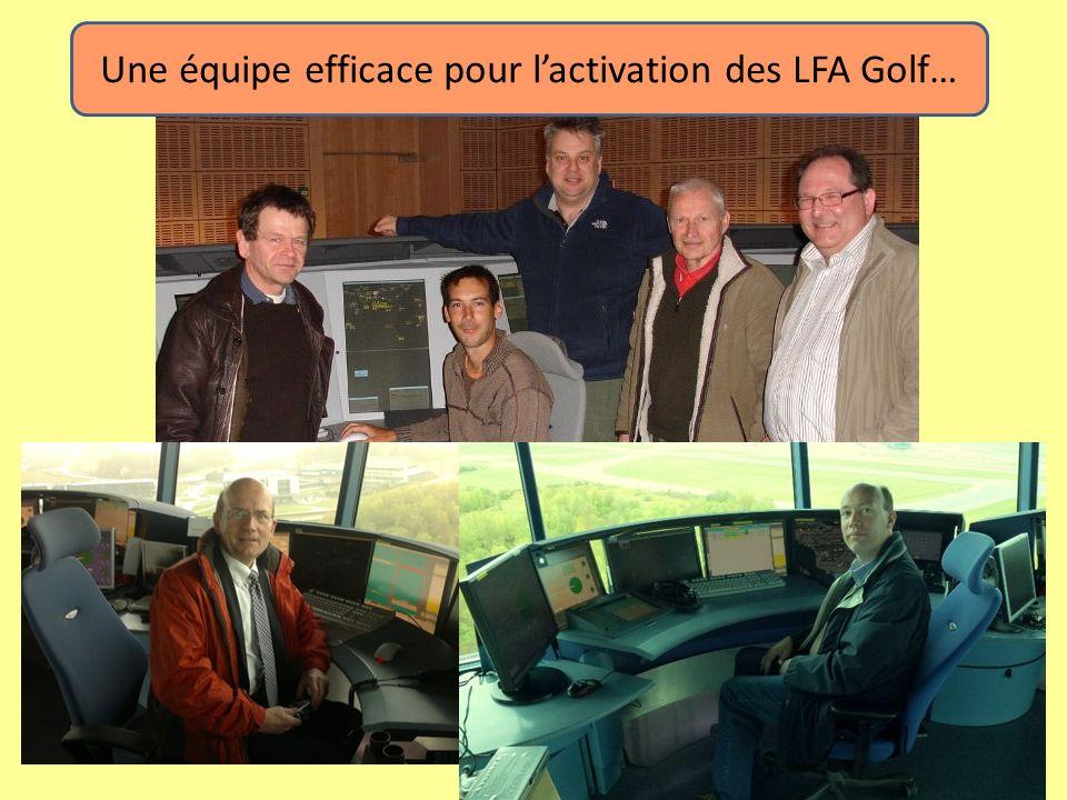 Une équipe efficace pour lactivation des LFA Golf…
