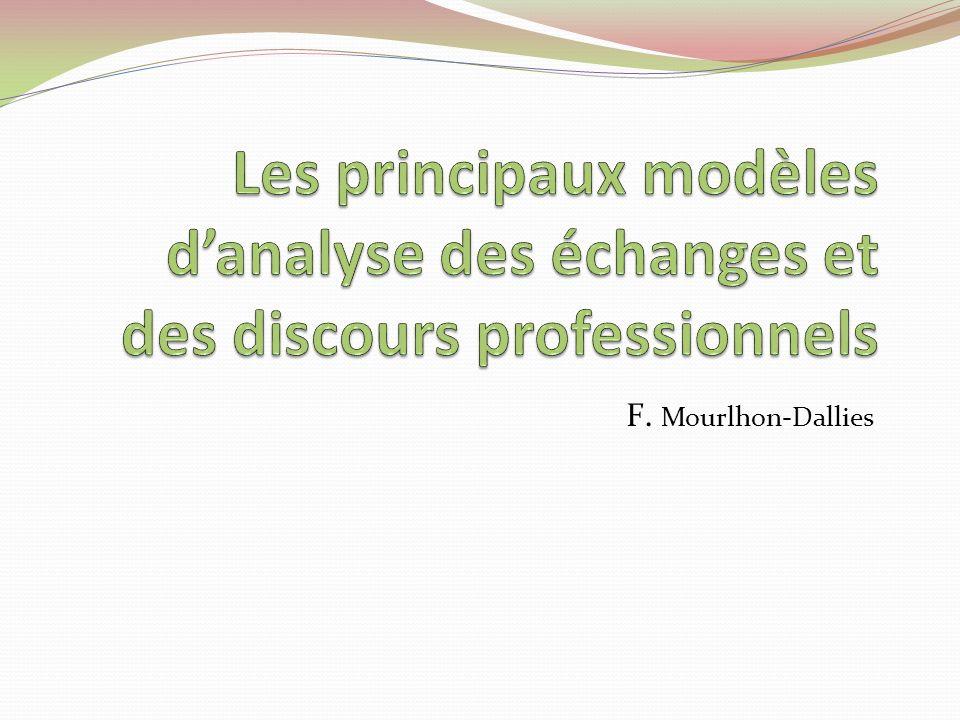Chapitre 5 Pour mieux saisir la richesse et la complexité de la communication au lieu de travail, le Français Langue Professionnelle devra aussi se doter de modèles danalyse des discours.