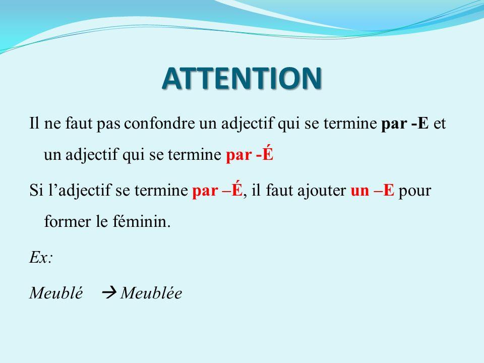 Autres cas (partie 1) Il arrive parfois que lon doivent doubler la consonne finale pour former le féminin de certains adjectifs.
