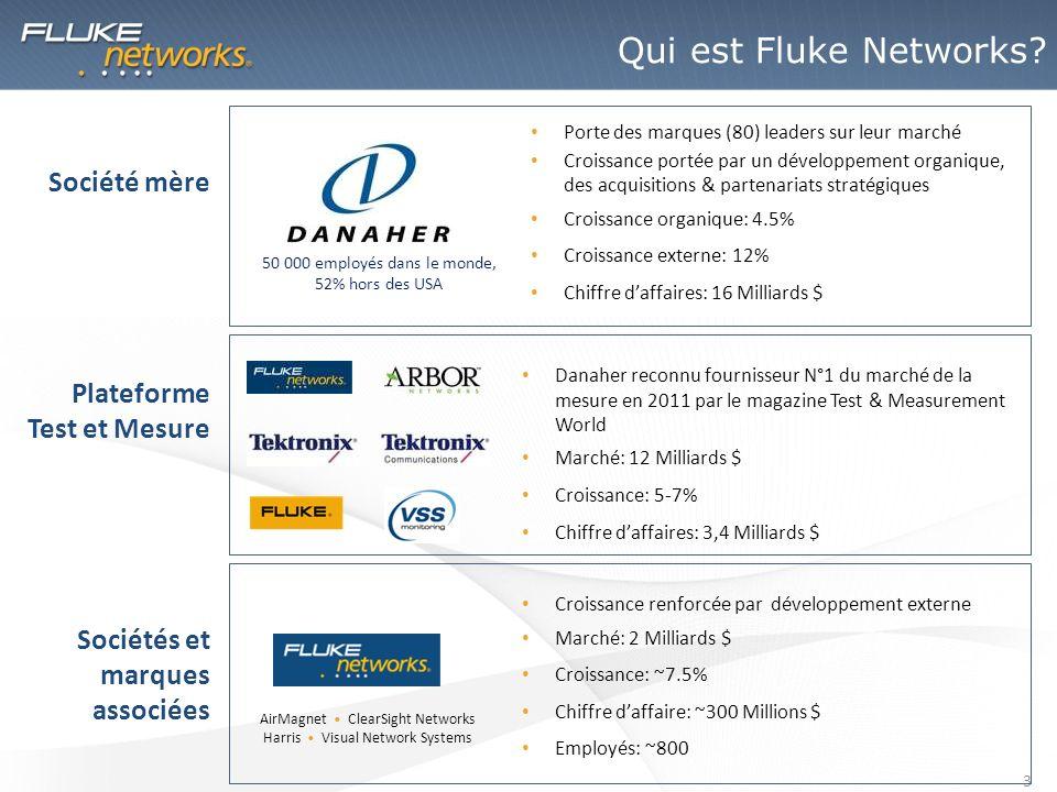 4 Fluke Networks commercialise des solutions de test, de surveillance et danalyse réseau dédiées aux entreprises.