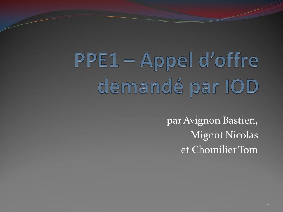 par Avignon Bastien, Mignot Nicolas et Chomilier Tom 1