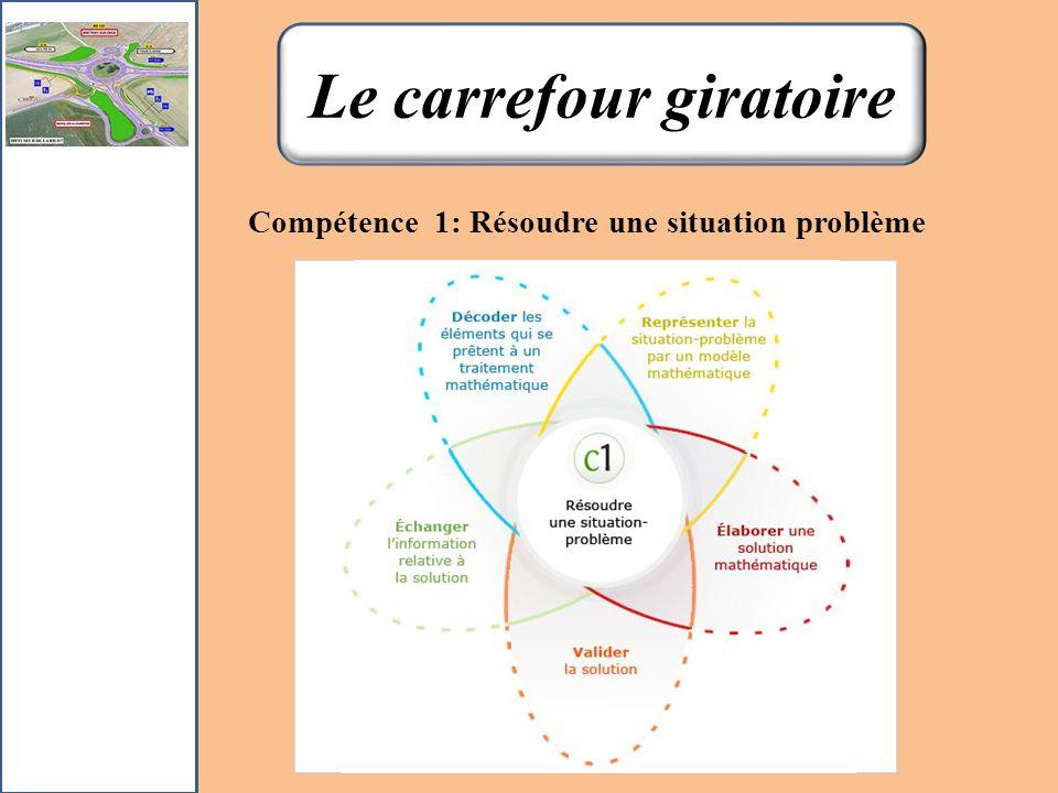 Compétence 1: Résoudre une situation problème Gazon vert Cercle 1: comprenant la fontaine et le gazon vert Fontaine 3 m 1.5m 1.8 m 0.20 m Retour Aller à lénoncé