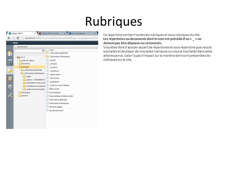 Bandeau de bas de page Le bandeau de bas de page est défini par un document de type bandeaudebasdepage.