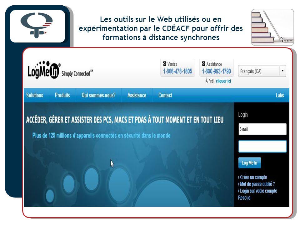 Les outils sur le Web utilisés ou en expérimentation par le CDÉACF pour offrir des formations à distance synchrones
