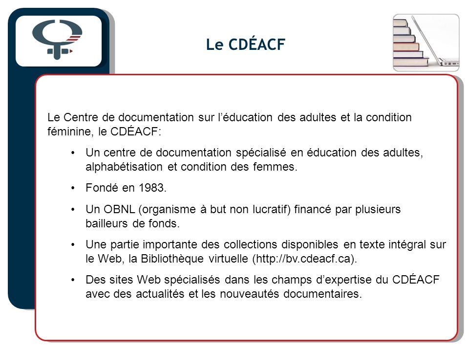 Les formations au CDÉACF Formations sur la gestion de la documentation et de linformation, surtout à laide des technologies de linformation (TIC) offertes depuis 1990.