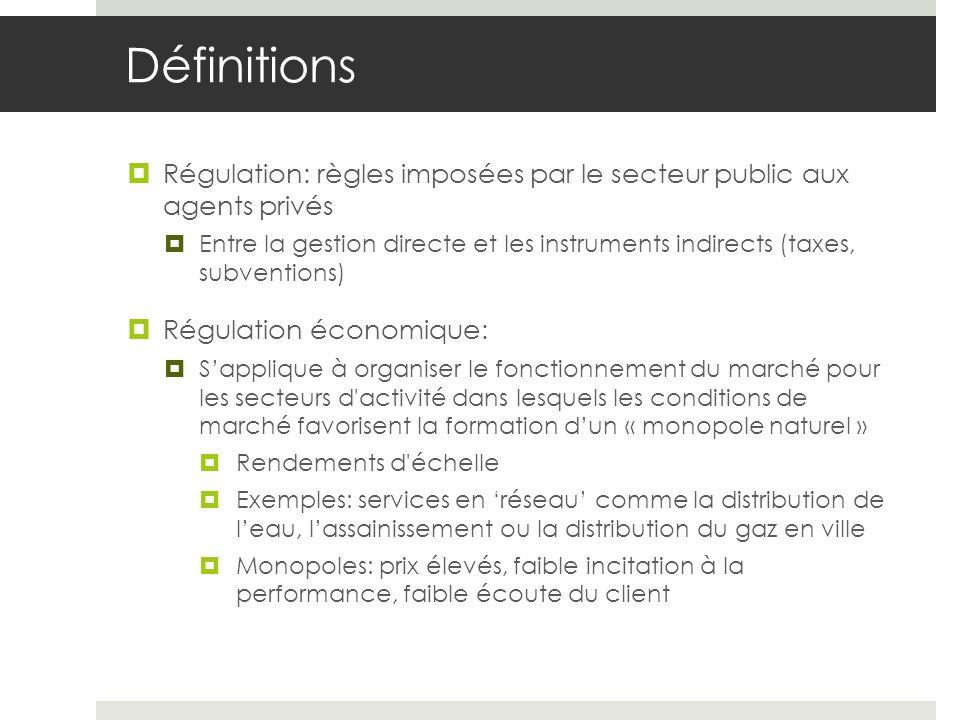 Gestion déleguée en France (1) La collectivité (communauté ou le syndicat des communes) définit les règles générales qui gouvernent le service contrôle les prix, prestations organise la concurrence, choisir le délégataire, négocier le contrat contrôler les firmes qui accèdent au marché est responsable pour la continuité du service de lapprovisionnement de leau Loi Sapin : oblige les collectivités à se soumettre à une procédure de publicité et de mise en concurrence