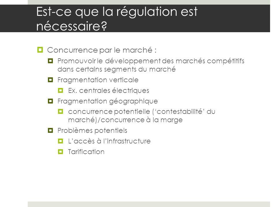 Est-ce que la régulation est nécessaire.