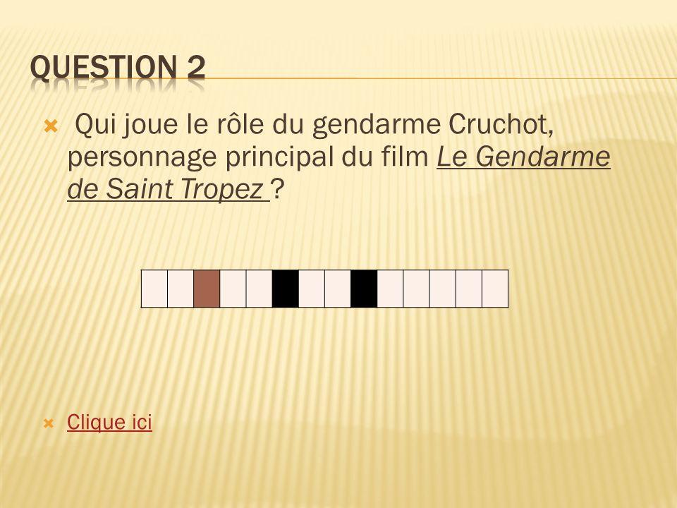 Qui joue le rôle du gendarme Cruchot, personnage principal du film Le Gendarme de Saint Tropez .
