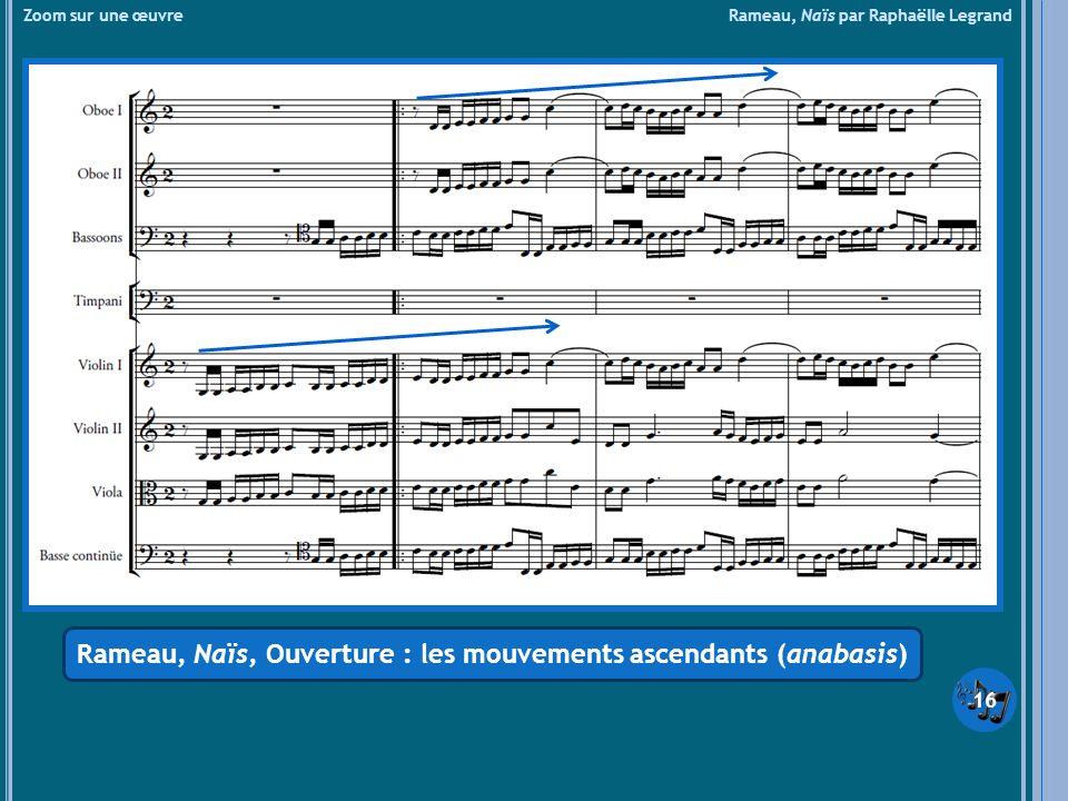 Zoom sur une œuvre Rameau, Naïs par Raphaëlle Legrand Rameau, Naïs, Ouverture : les mouvements ascendants (anabasis) 16