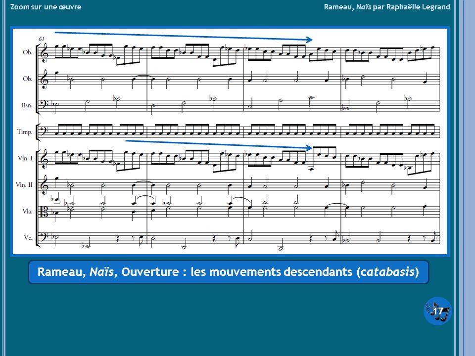 Zoom sur une œuvre Rameau, Naïs par Raphaëlle Legrand Rameau, Naïs, Ouverture : les mouvements descendants (catabasis) 17