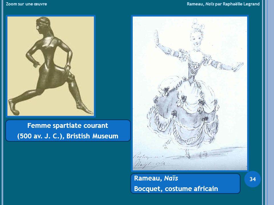 Zoom sur une œuvre Rameau, Naïs par Raphaëlle Legrand Femme spartiate courant (500 av. J. C.), Bristish Museum Rameau, Naïs Bocquet, costume africain