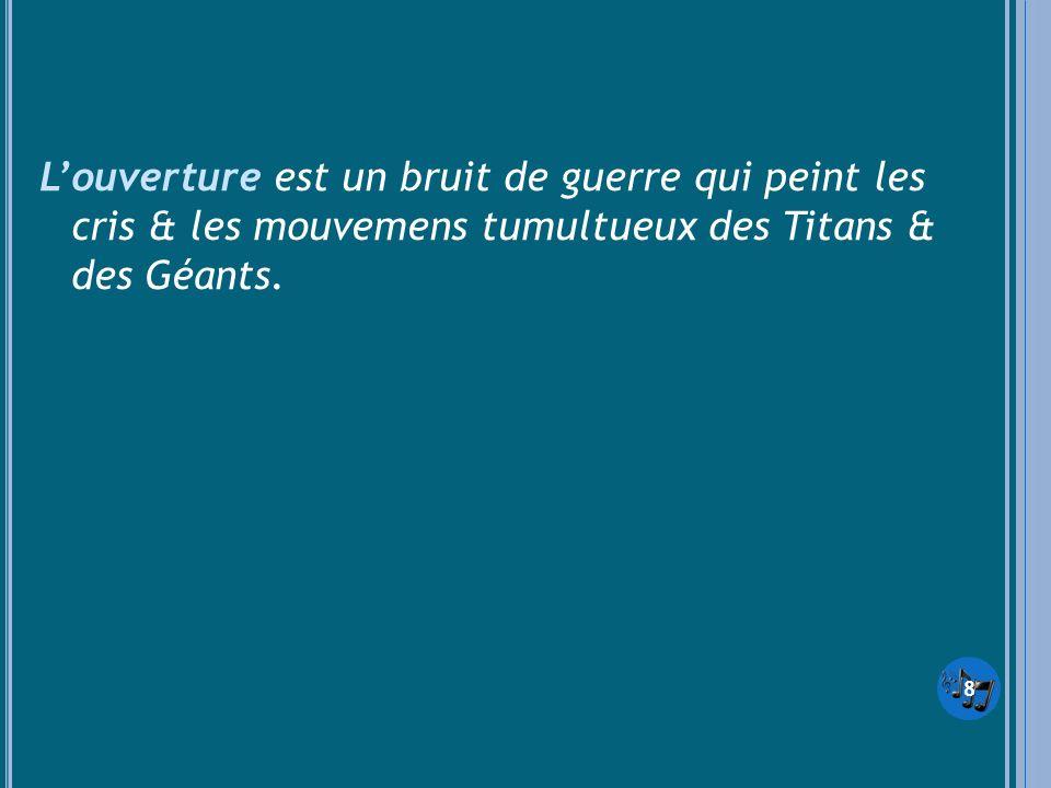 Louverture est un bruit de guerre qui peint les cris & les mouvemens tumultueux des Titans & des Géants. 8