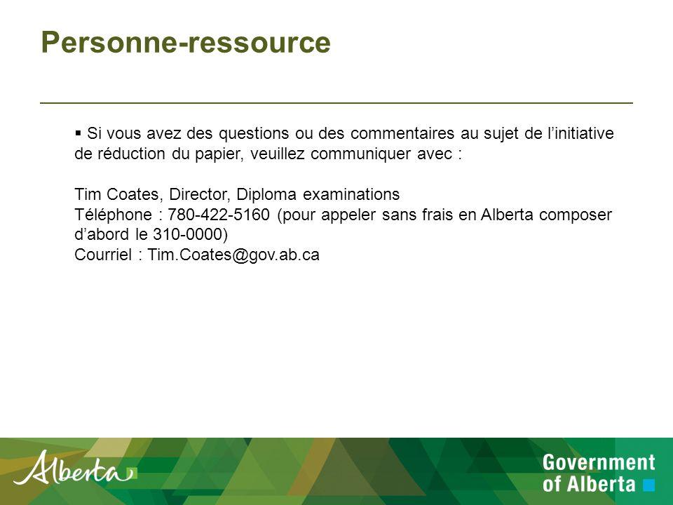 Directives : Renvoi des livrets d examen Quand les élèves ont terminé lexamen, tous les livrets dexamen doivent être emballés et renvoyés à Alberta Education.