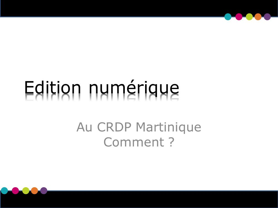 1 Au CRDP Martinique Comment
