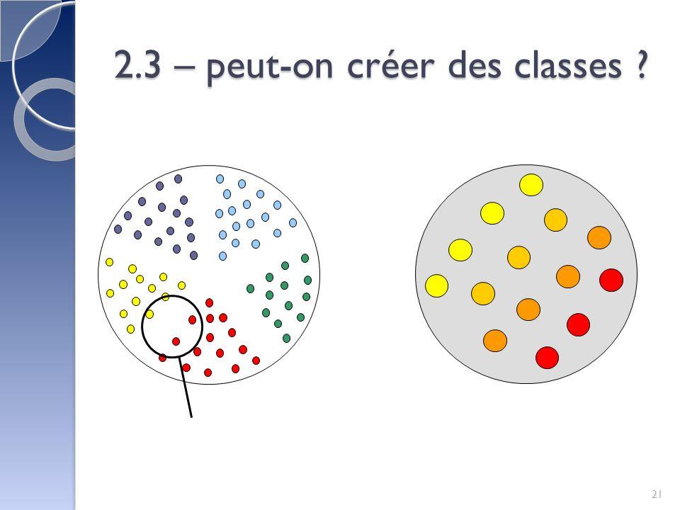 2.3 – peut-on créer des classes ? 21
