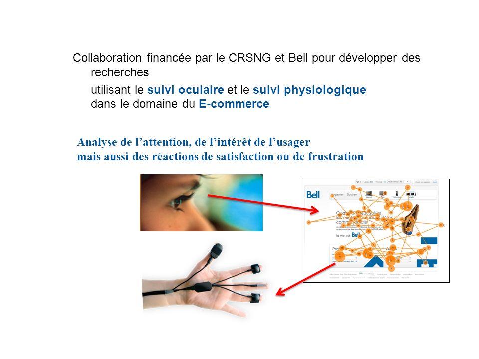 Collaboration financée par le CRSNG et Bell pour développer des recherches utilisant le suivi oculaire et le suivi physiologique dans le domaine du E-