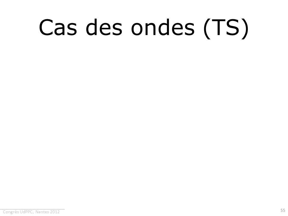 Congrès UdPPC, Nantes 2012 Cas des ondes (TS) 55
