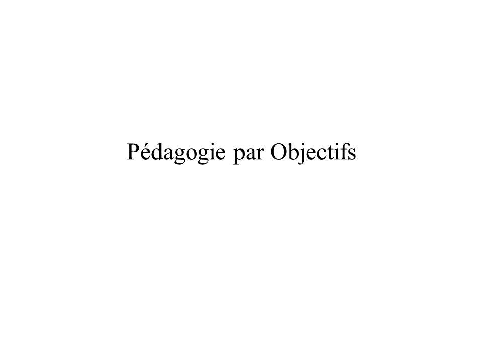 Pédagogie par Objectifs