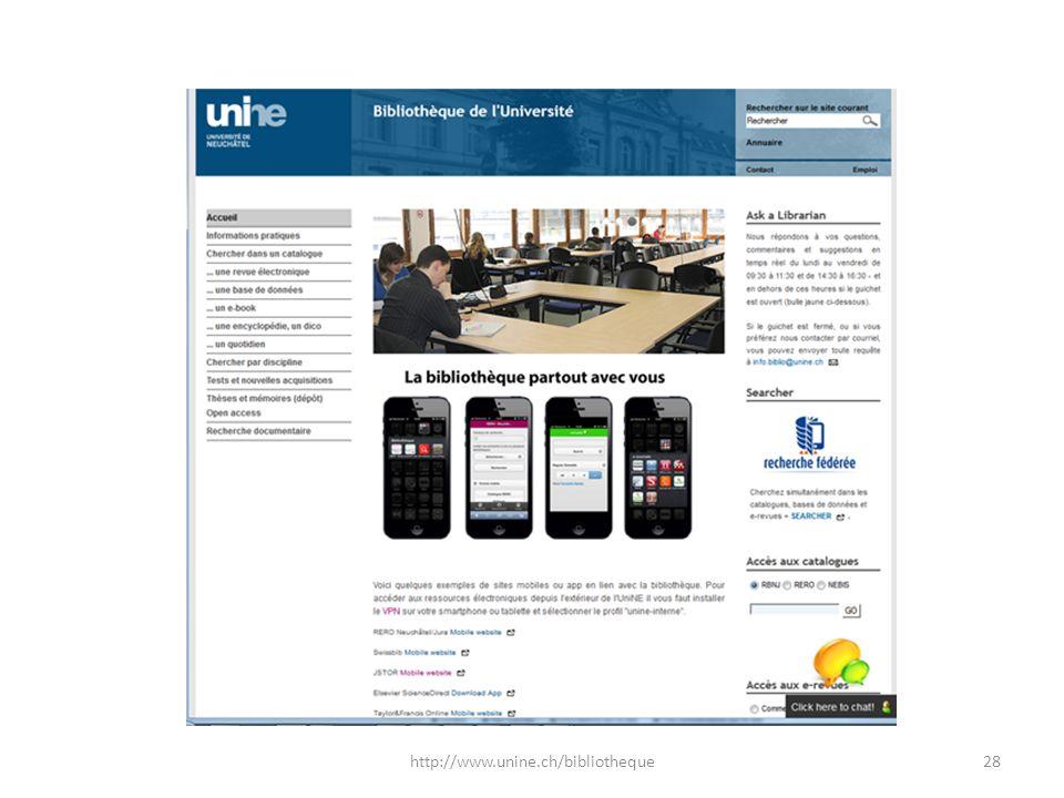 28http://www.unine.ch/bibliotheque