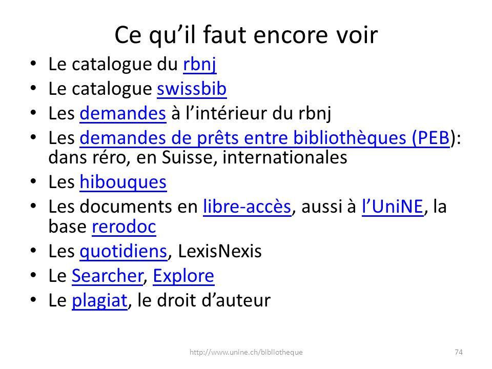 Ce quil faut encore voir Le catalogue du rbnjrbnj Le catalogue swissbibswissbib Les demandes à lintérieur du rbnjdemandes Les demandes de prêts entre