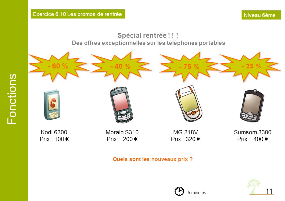 Fonctions 11 Quels sont les nouveaux prix ? Spécial rentrée ! ! ! Des offres exceptionnelles sur les téléphones portables Kodi 6300 Prix : 100 Moralo