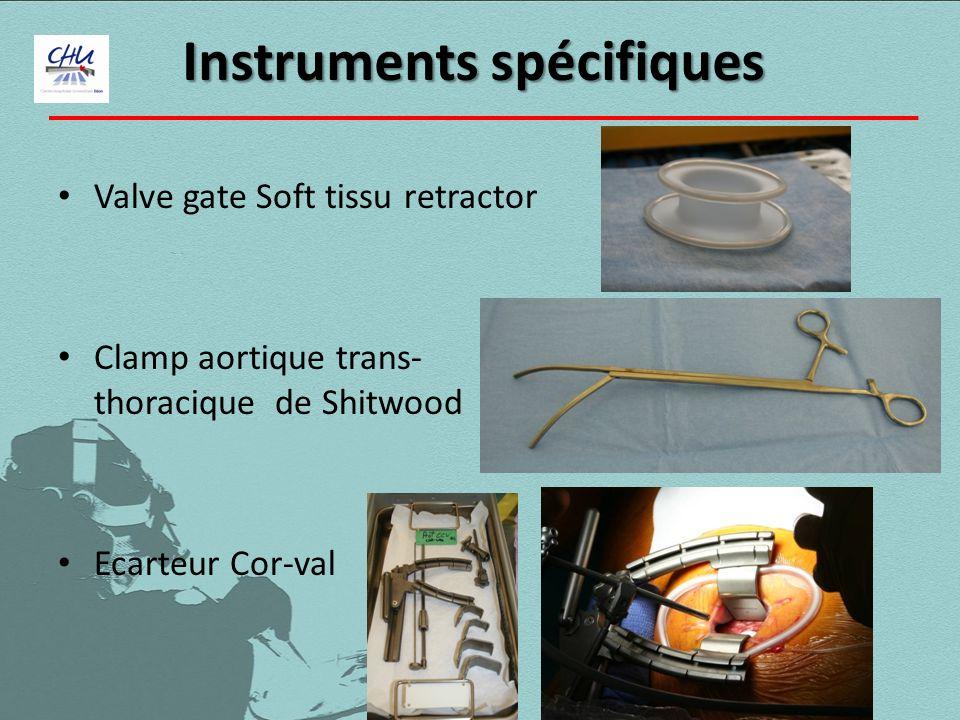 Instruments spécifiques Valve gate Soft tissu retractor Clamp aortique trans- thoracique de Shitwood Ecarteur Cor-val