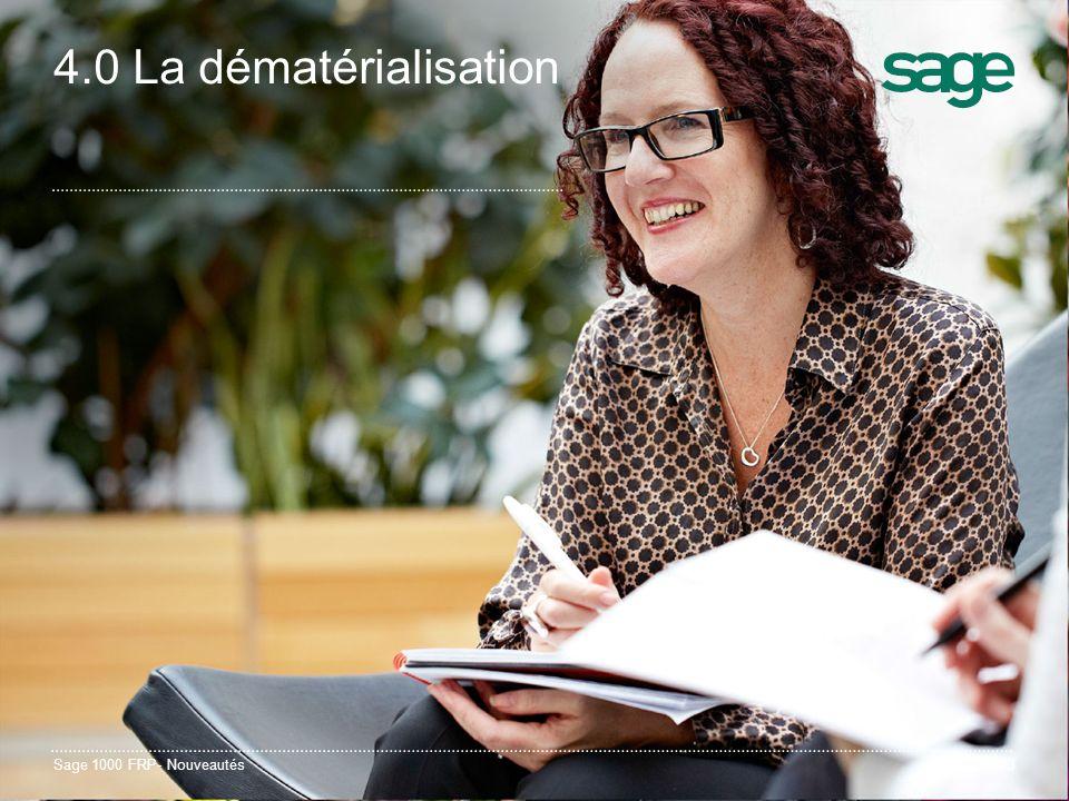 Sage 1000 FRP- Nouveautés23 4.0 La dématérialisation