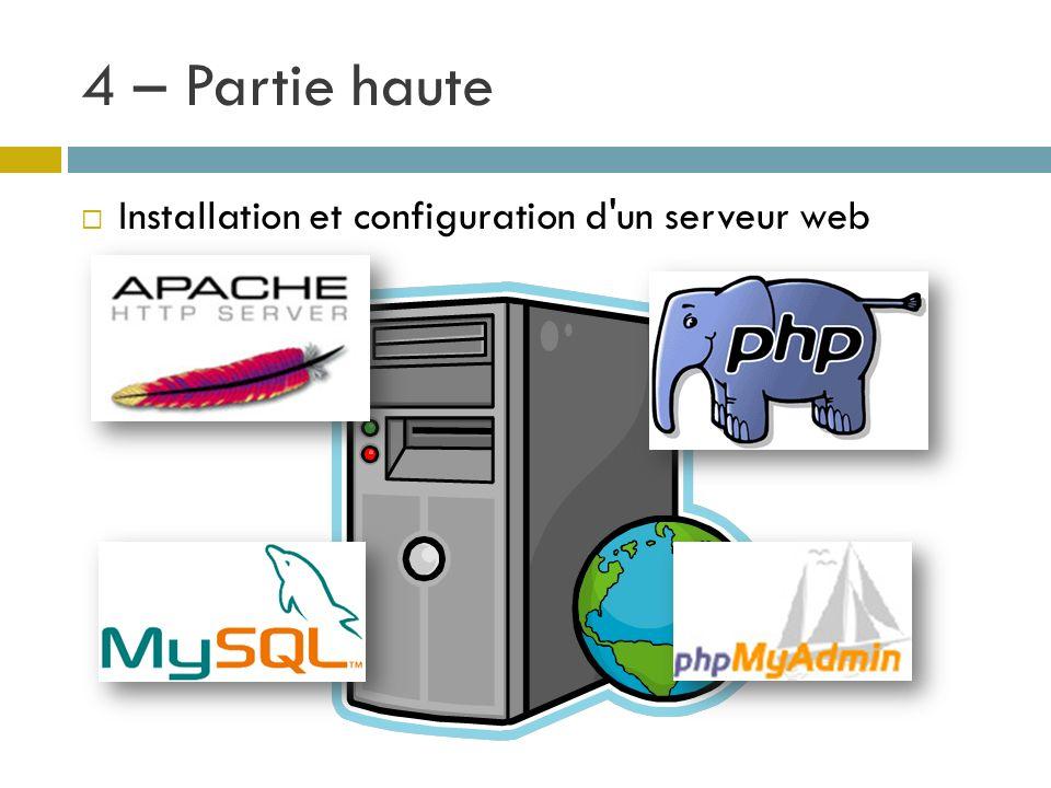 Installation et configuration d'un serveur web
