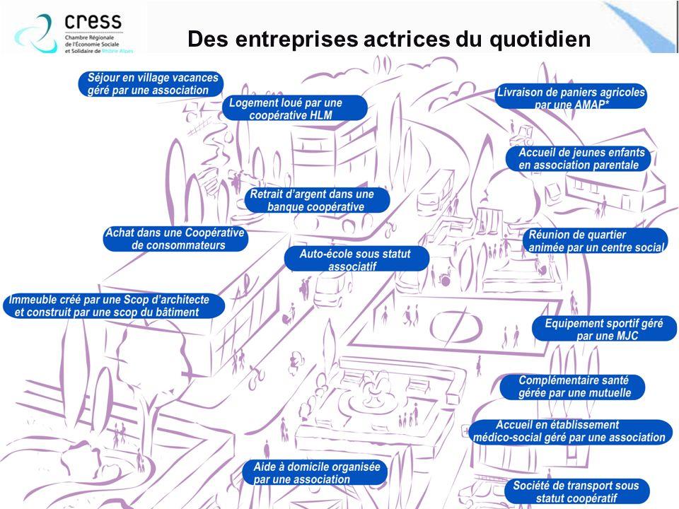 Au quotidien et en chiffres 10 Des entreprises actrices du quotidien S associer Coopérer Mutualiser www.cress-rhone-alpes.org