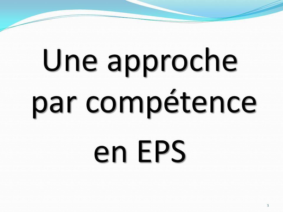 Une approche par compétence en EPS 1