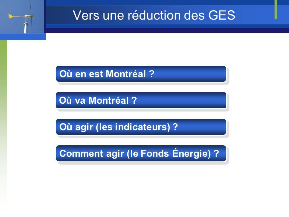Vers une réduction des GES Où en est Montréal . Où va Montréal .
