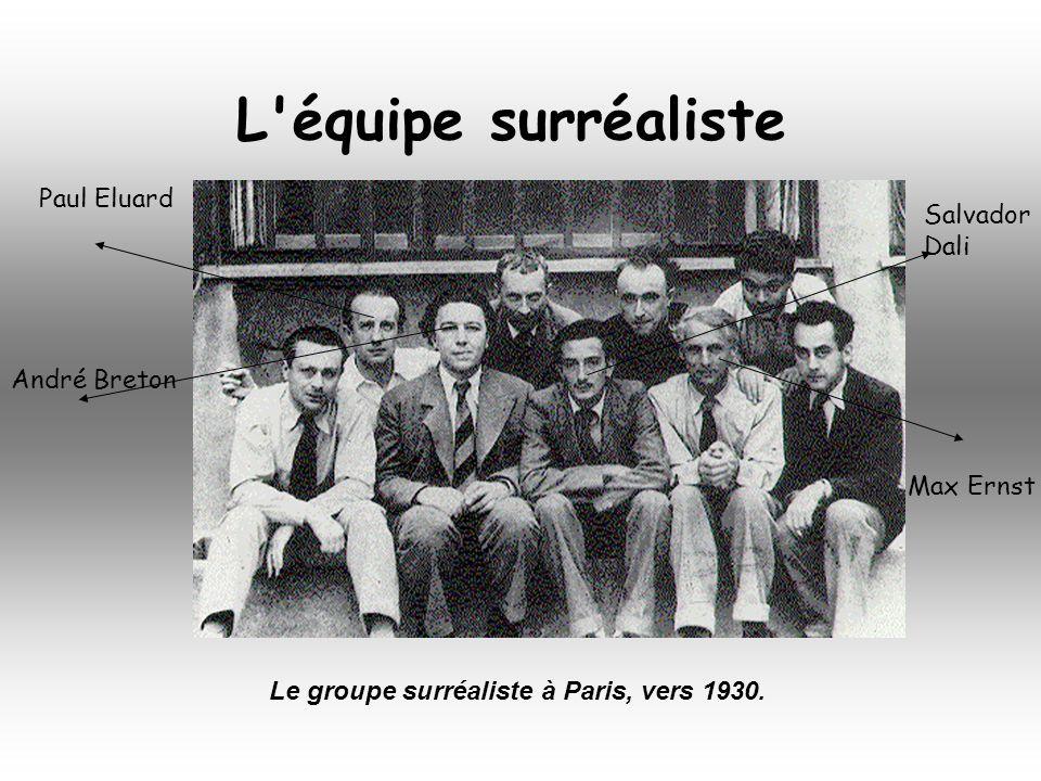 En 1924, le poète André Breton influencé par les théories de Freud sur linconscient, crée un mouvement littéraire et artistique: le surréalisme.