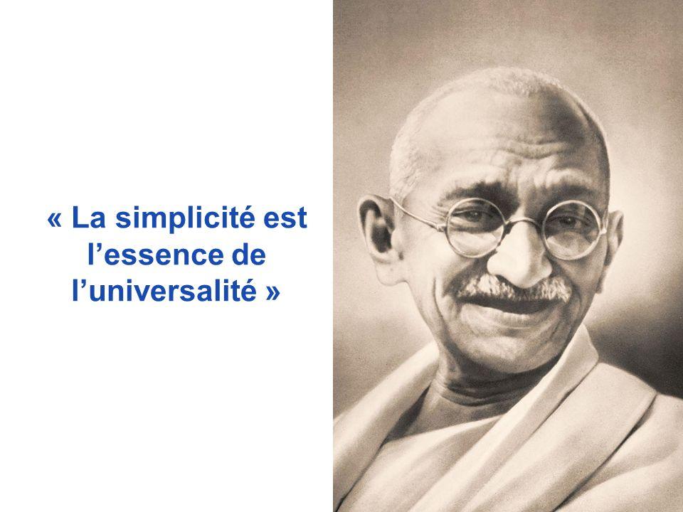 « La simplicité est lessence de luniversalité »