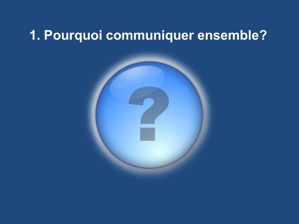 1. Pourquoi communiquer ensemble?