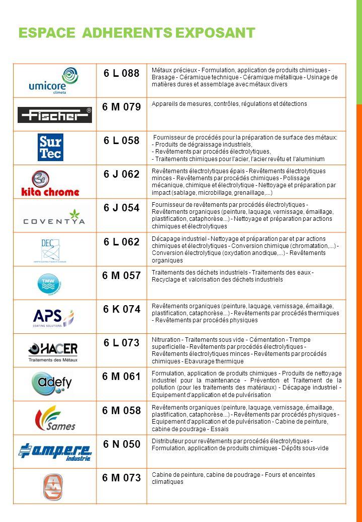 6 L 062 Décapage industriel - Nettoyage et préparation par et par actions chimiques et électrolytiques - Conversion chimique (chromatation,...) - Conversion électrolytique (oxydation anodique,...) - Revêtements organiques 6 L 053 Energie - Innovation et recherche en électronique - Mesure et régulation - Conception de cartes et systèmes électroniques 6 J 062 Revêtements électrolytiques épais - Rectification - Rodage - Nettoyage et préparation par impact (sablage, microbillage, grenaillage,...) - Polissage mécanique, chimique et électrolytique 6 M 071 Revêtements par procédés électrolytiques - Rectification - Electroérosion (enfonçage, à fil) - Tour parallèle 6 L 066 Conversion chimique (chromatation,...) - Conversion électrolytique (oxydation anodique,...) - Revêtements électrolytiques épais - Revêtements électrolytiques minces 6 P 077 Nettoyage et préparation par impact - Revêtements par procédés chimiques - Revêtements par procédés électrolytiques - Conversion chimique (chromatation,...) - Revêtements organiques - Formulation, application de produits chimiques - 6 K 054 Traitements sous vide - Dépôts sous vide - Nitruration - Cémentation - Carbonitruration - Trempe à coeur - Trempe superficielle - Revenu (Traitements thermiques) - Recuit (Traitements thermiques) - Traitements pour métaux non ferreux 6 M 059 Revêtements par procédés électrolytiques - Revêtements organiques (peinture, laquage, vernissage, émaillage, plastification, cataphorèse...) - Conversion électrolytique (oxydation anodique,...) - Nettoyage et préparation par impact 6 L 070 Nettoyage et préparation par impact - Polissage mécanique, chimique et électrolytique - Conversion chimique et électrolytique - Galvanisation à chaud - Revêtements électrolytiques minces - revêtements par procédés chimiques et thermochimiques 6 K 071 Revêtements par procédés chimiques - Revêtements par procédés électrolytiques - Revêtements électrolytiques épais - Revêtements électrolytiques minces 6 J 066 Revêtements par proc