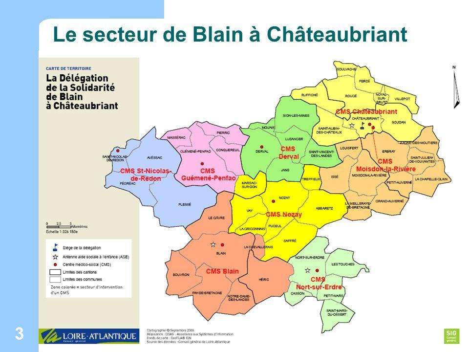 Maison des adolescents de Loire-Atlantique ORS Pays de la Loire - Janvier 2008 3 Le secteur de Blain à Châteaubriant