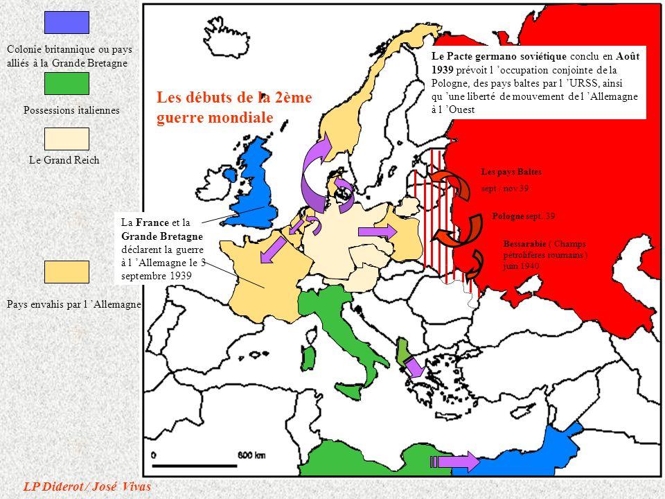 Zone rattachée à la Belgique ALSACE - LORRAINE rattachée à l Allemagne La France de 1940 à 1944 Zone occupée Zone non occupée Zones occupées par l Italie Occupation de tout le territoire en Nov.