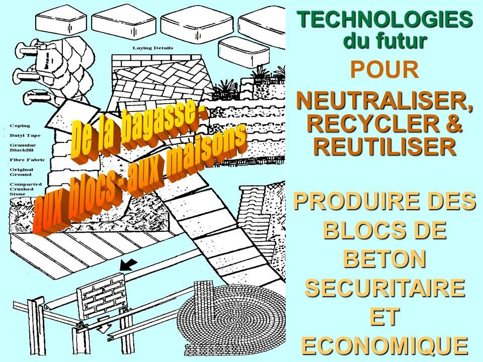Autres technologies du programme auto-suffisant La conversion de déchets (sous-produits) en produits économique et environnementaux par une main-dœuvre non-spécialisée.