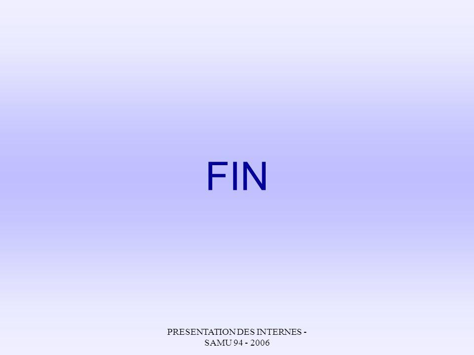 PRESENTATION DES INTERNES - SAMU 94 - 2006 FIN