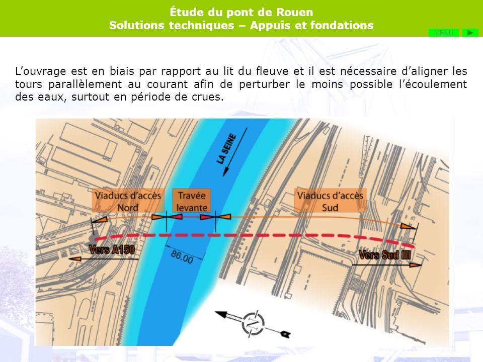 Étude du pont de Rouen Solutions techniques – Appuis et fondations MENU