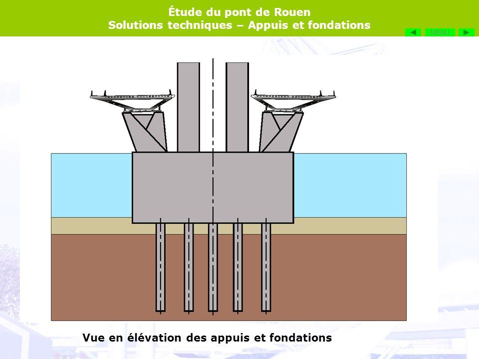 Étude du pont de Rouen Solutions techniques – Appuis et fondations Le pont est situé dans la zone maritime, donc des navires de fort tonnage passent à proximité, voire dessous en ce qui concerne les paquebots et lArmada.