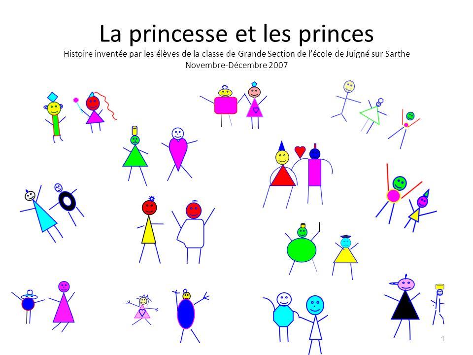 1 La princesse et les princes Histoire inventée par les élèves de la classe de Grande Section de lécole de Juigné sur Sarthe Novembre-Décembre 2007